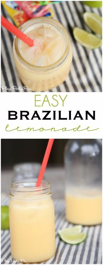 Try out some new summer drinks like this easy Brazilian lemonade recipe #FireUpTheGrill #ad
