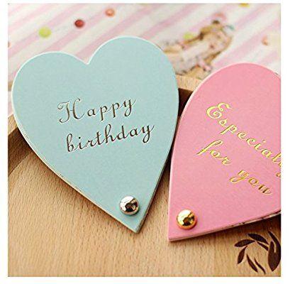ハート型 お誕生日 祝福 メッセージカード (2種セット)結婚式 感謝状 出産祝い 招待状 バレンタイン告白にも