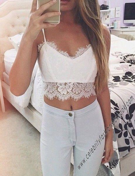 Eyelash Lace Bralette - #lace #bralette #croptop #sexy #party #white