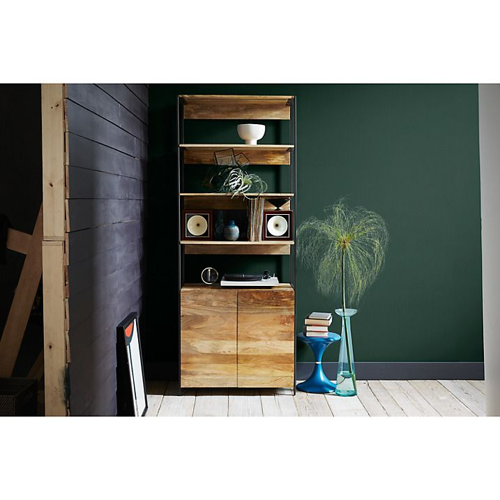 Buy west elm Industrial Modular 84cm Open and Closed Storage Bookshelf Online at johnlewis.com