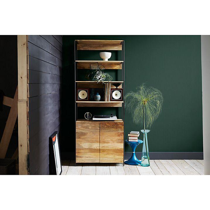 Buy west elm Industrial Modular 84cm Open and Closed Storage Bookshelf Online at johnlewis.com