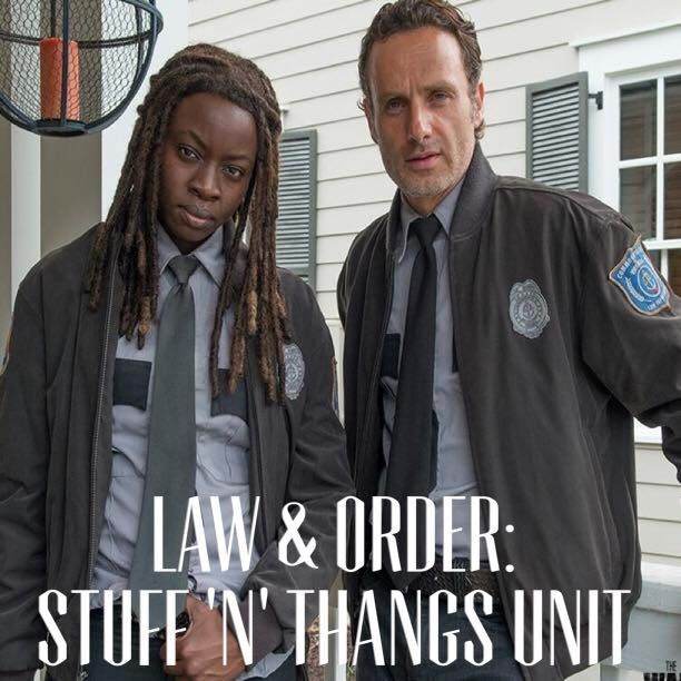 "Law & Order - Stuff & Thangs Unit -  S5E13 ""Forget"" | Michonne & Rick | The Walking  Dead (AMC)"