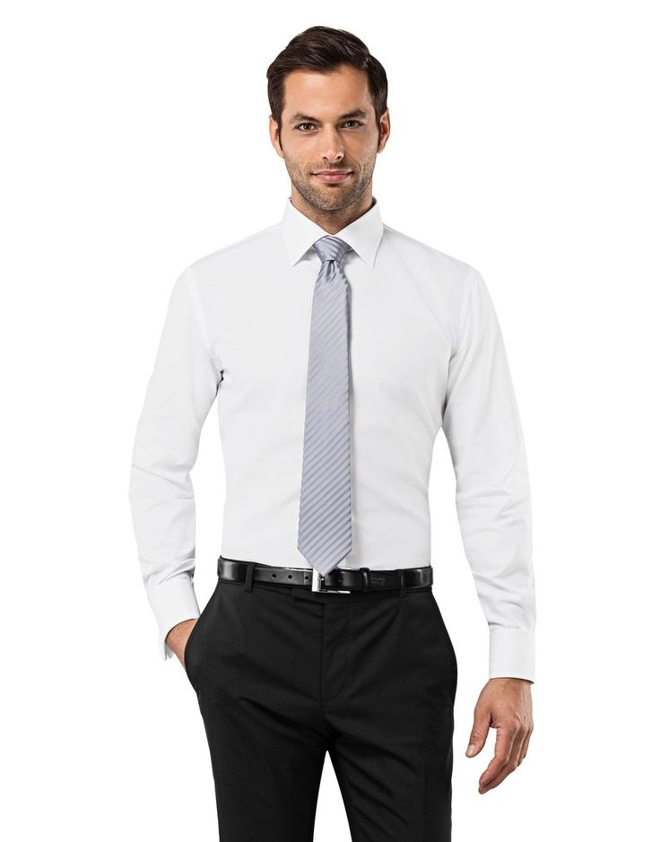 VB Herren Hemd Slim Fit Tailliert Umschlagmanschette Uni Bügelfrei: Amazon.de: Bekleidung