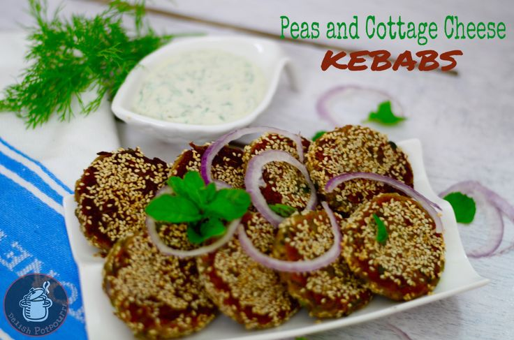Peas And Cottage Cheese Kebabs/Matar Paneer Kebabs(Monsoon Mania Collab)  Crispy and delicious snacks with Peas and Cottage Cheese ,the typical Paneer Matar Curry combo in Kebab form.
