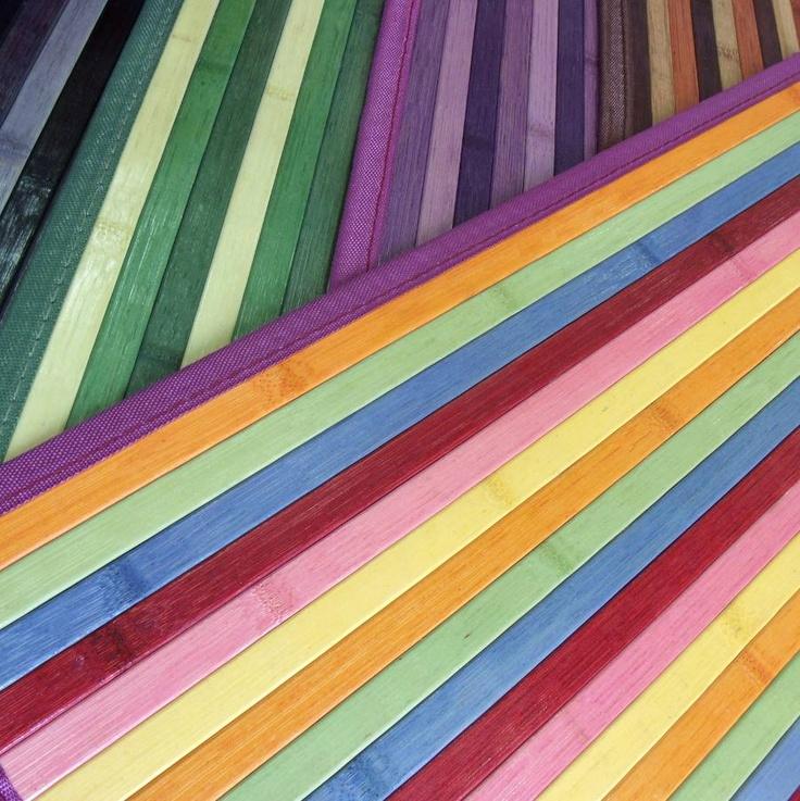 Rayas y colores qu bonitas son las alfombras de bamb - Alfombras de bambu a medida ...