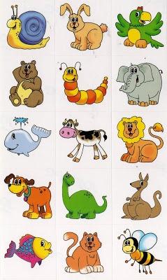 Diversas imagens de animais.