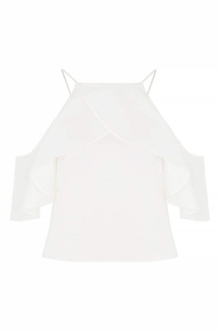 Ruffle Poplin Cold Shoulder Top - New In This Week - New In - Topshop Europe
