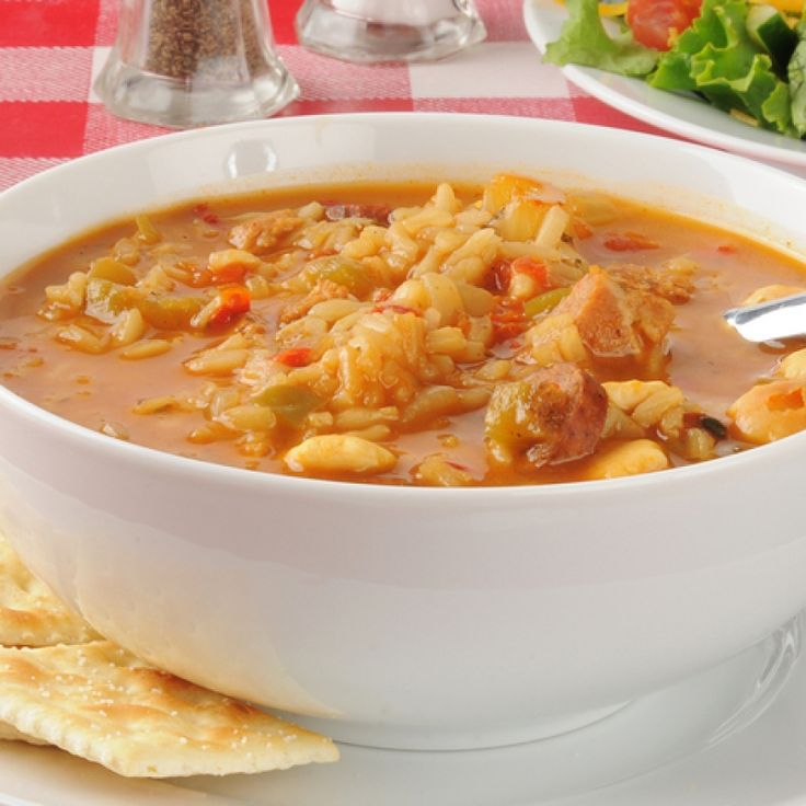 This tasty chicken gumbo soup recipe is hearty and satisfying.. Chicken Gumbo Soup Recipe from Grandmothers Kitchen.