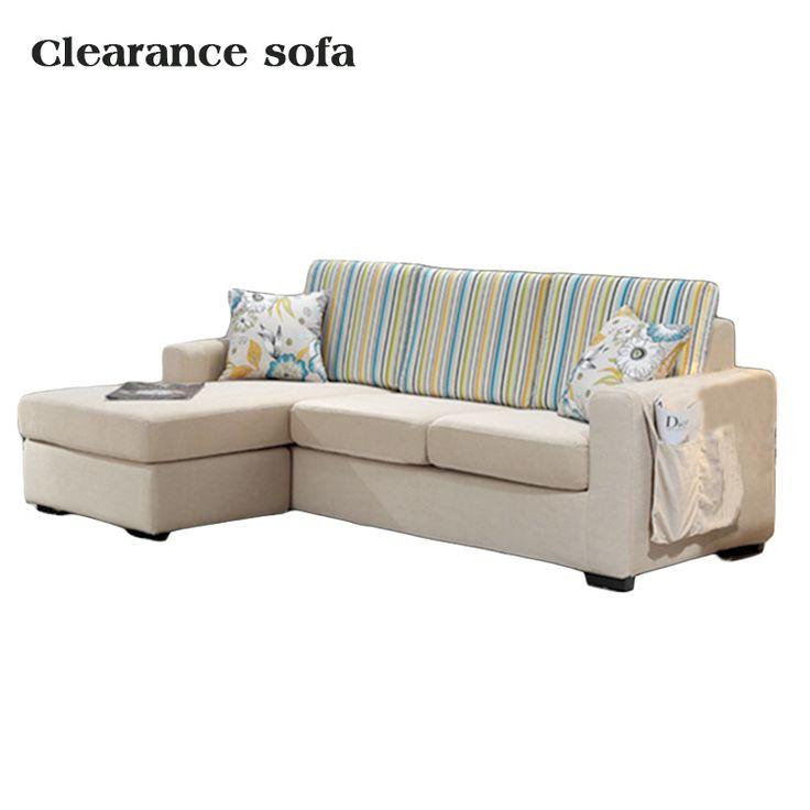 Clearance L Shape Corner Fabric Curved Sofa