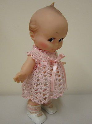 Vintage 10 inch Cameo Kewpie doll-o wow I have one like this with a pink dress on knitted by my grandma similar to this one!