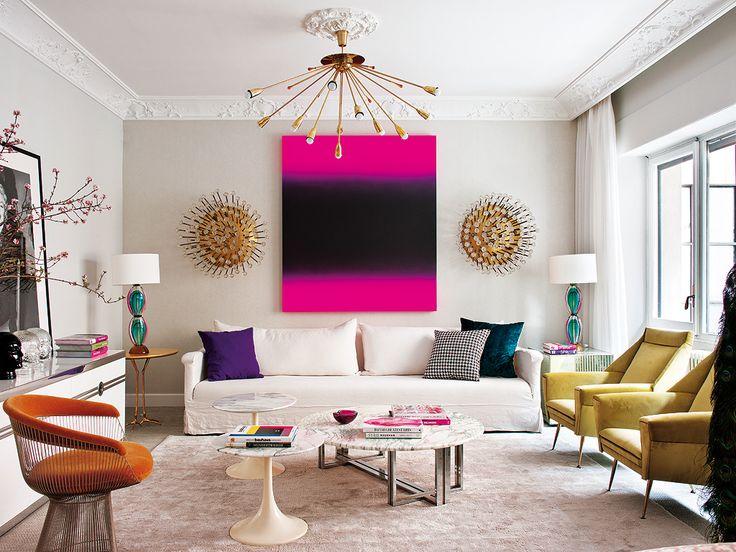 Здоровая доза гламура: Яркий и игривый интерьер квартиры | Дизайн интерьера, декор, архитектура, стили и о многое-многое другое