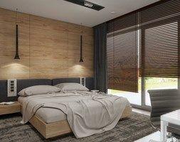 INTERIOR   Dom w Rudach - Średnia sypialnia małżeńska z balkonem / tarasem, styl nowoczesny - zdjęcie od Manufaktura Projektów