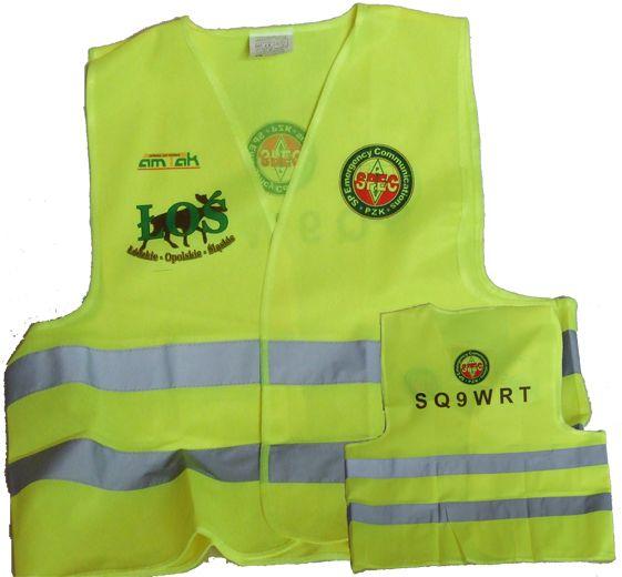 Oferujemy kamizelki odblaskowe z dowolnym znakiem lub/i logo EnCom czy też ŁOŚ