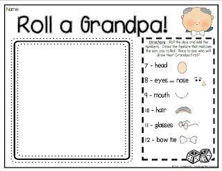ART - Roll a Grandma/pa drawing game
