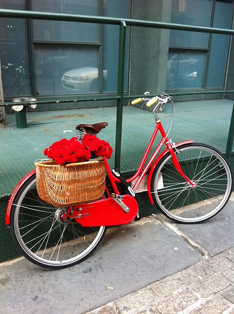 estilo italiano #red #bike #magrela