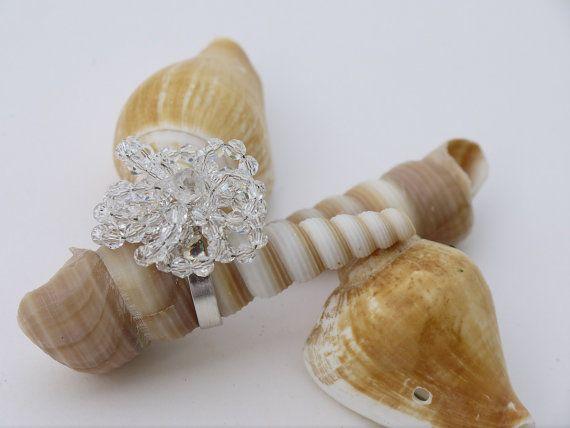 Swarovski Ring Swarovski Jewellery Bridal by DesignByIrenne