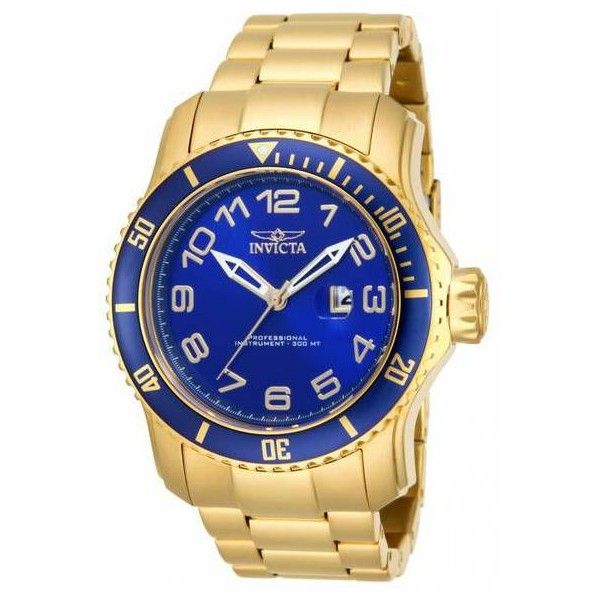 Men's Invicta Pro Diver 48mm Men's Watch ($75) ❤ liked on Polyvore featuring men's fashion, men's jewelry, men's watches, blue, jewelry & watches, invicta mens watches, stainless steel mens watches, mens blue dial watches and mens watches jewelry