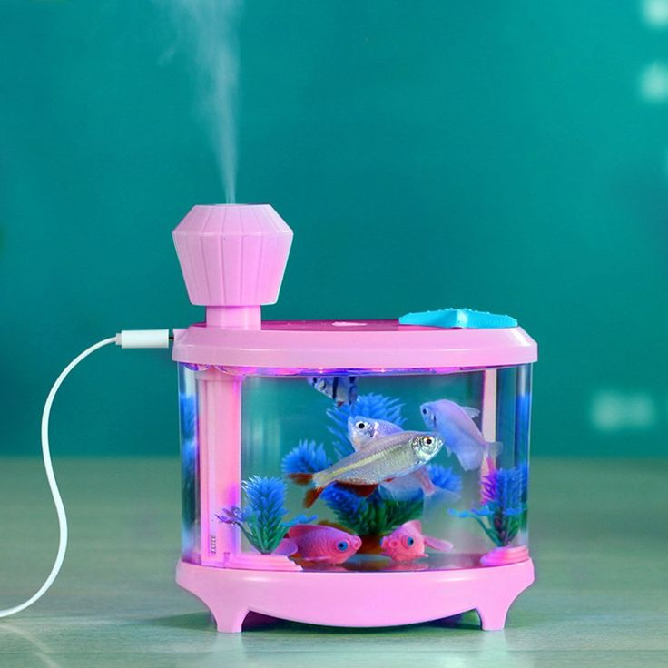 Amazon.com: Essential Oil Diffuser, Pretty Handy Ultrasonic Humidifier Mini Fish Tank Mist Humidifier Night Lights Air Humidifier USB Air Purifier for Office Home Bedroom (Pink): Home & Kitchen