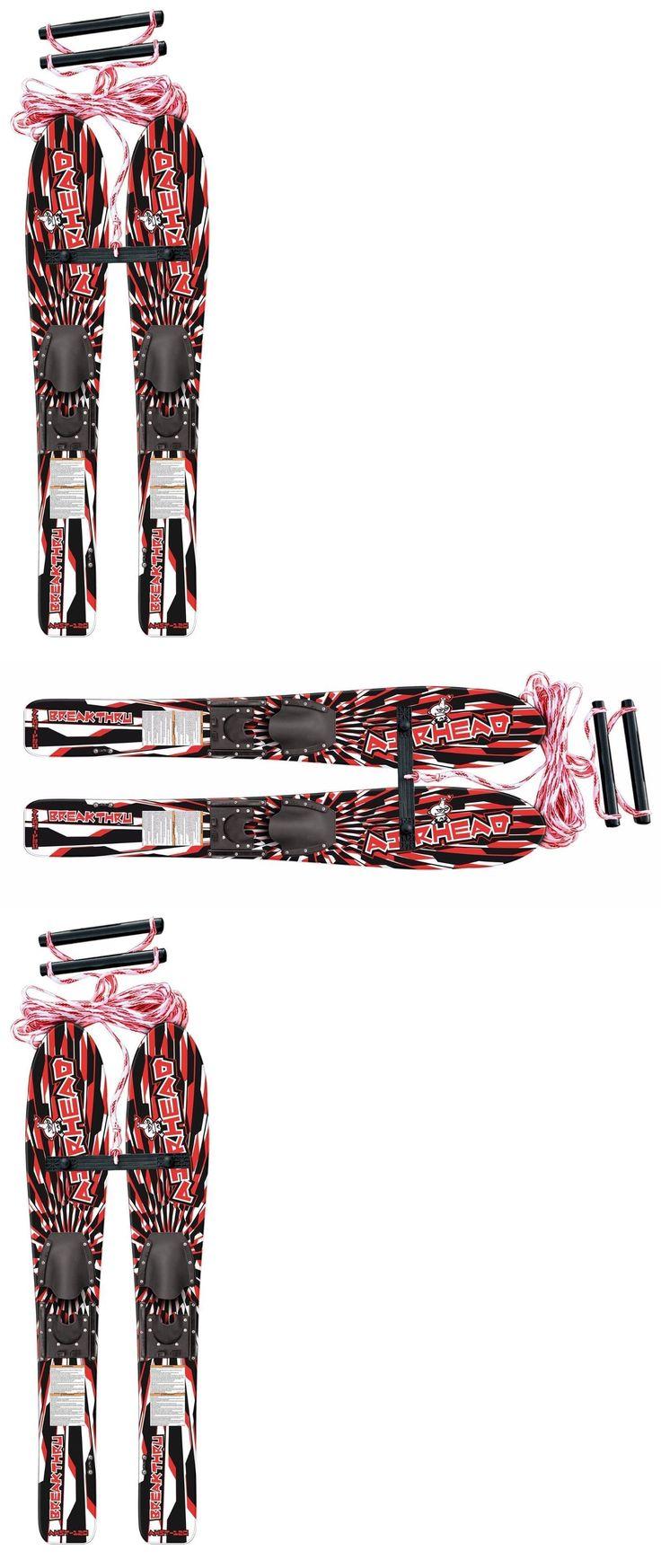 Waterskis 71175: Airhead Breakthrough Wide Trainer Skis Beginner Water Ski Package -> BUY IT NOW ONLY: $89 on eBay!