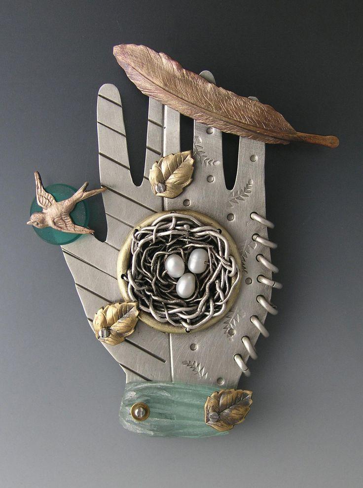 Thomas Mann brooch: Art Crafts, Thomasmann, Mann Hands, Artists Things, Thomas Mann, Metals Clay Jewelry, Mann Thomas, Art Jewels, Art Jewelry