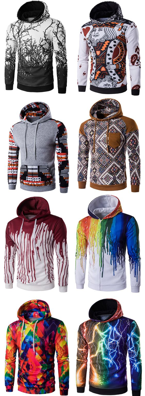Men's hoodies, men's tops
