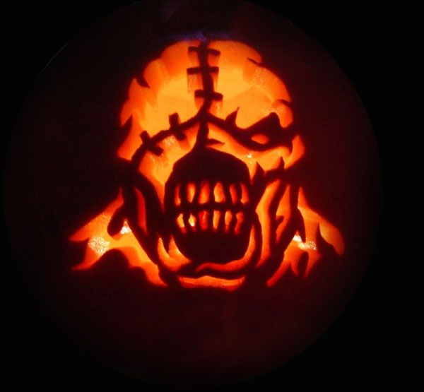 Scary Pumpkin Carving Patterns: 17 Best Images About Halloween Jack-o-lantern On Pinterest