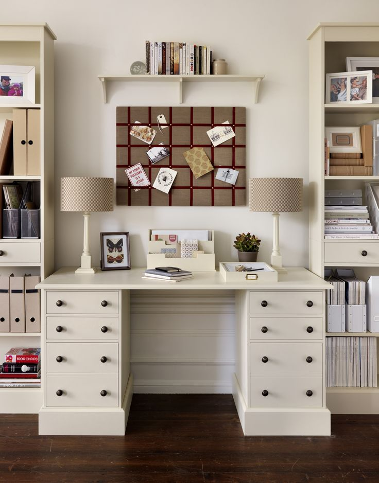 Dormy House desk/bookcases #thedormyhouse