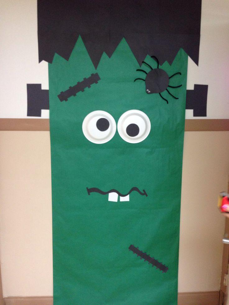 Recursos para el aula decorar el aula en halloween for Decoracion para puertas halloween