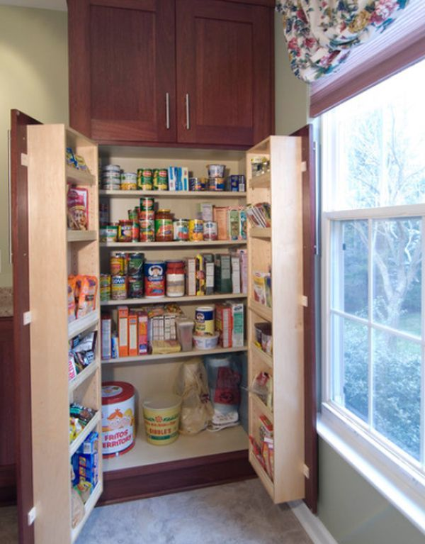 So, let's say you don't have space for a pantry…not even in the hallway around the corner like my family had. Perhaps you could then create a camouflaged one, tucked away inside an existing cupboard right inside your kitchen. Doing this, you would still be able to have many useful items on-hand while saving the real estate required for a separate pantry. It's a win-win! Maximize Your Kitchen Pantry Space