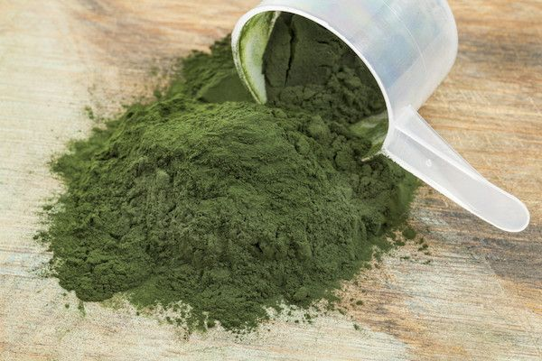 Spirulina is one of the most insanely nutrient-rich foods on the planet. It's pumped with protein and it has as much iron as red meat, an many antioxidants as blueberries, an a day's worth of vitamins A/B12/K.