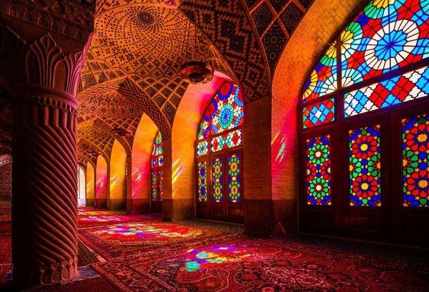 Nasir ol-Molk à Chiraz, mosquée kaléidoscope