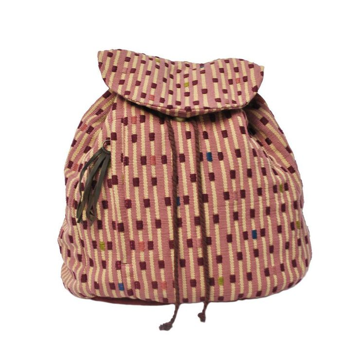 #handmade and #mayadesign day knapsack, #pink #blue #brown #black choose your favorite on our online shop http://www.yabal.org. Handwoven by #indigenous #women from our rural weaving cooperatives and swen by Elda in our whorkshop in #xela #quetzaltenango in #Guatemala. #art #artisan #shopsmart #wearthechange