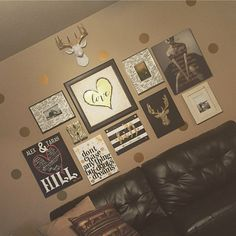 We are loving the way that our client, Tarah, has used The MINI Alfred to decorate this gorgeous gold, black & white space! He looks gorgeous and fits in perfectly to this little gallery wall! Thanks for sharing!