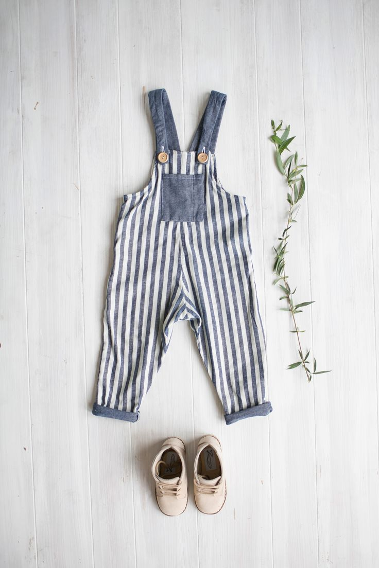 Striped Chambray Overalls / Milo Boots from Zimmerman Shoes