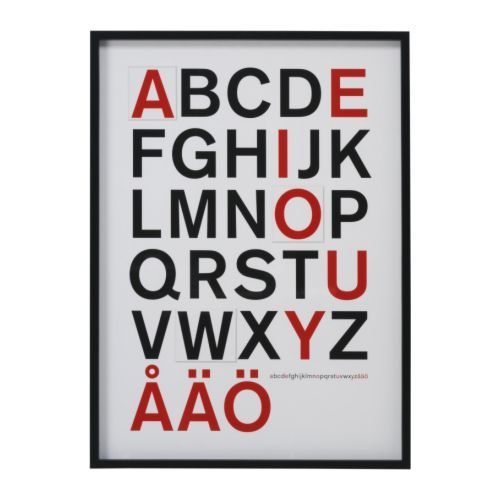 Ikea Poster Abc Nursery Pinterest Typography