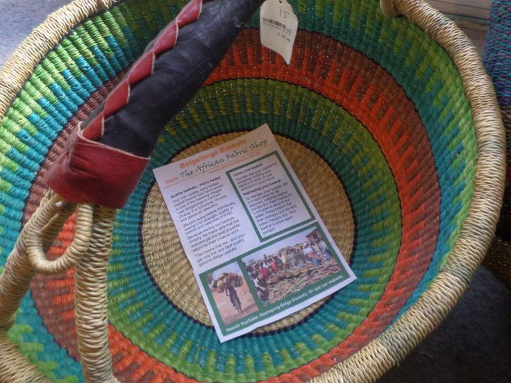 Colourful baskets from The African Fabric Shop
