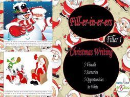 """My  Christmas Fill-er-in-er-ers contain 10 pages of activities. This """"Filler"""" has Christmas writing activities using a picture as the stimuli. We all have the lessons that finish 5 or 10 minutes before breaks, there is not enough time to b..."""