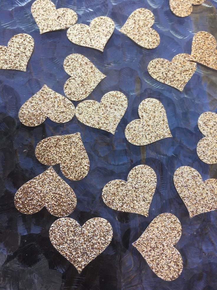 A personal favourite from my Etsy shop https://www.etsy.com/au/listing/536103108/gold-glitter-hearts-confetti-table