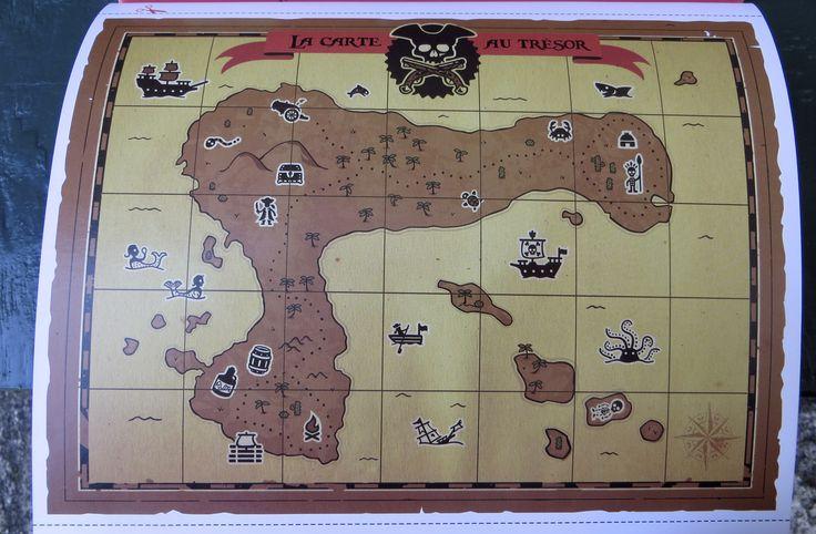 La carte de l'île au trésor (Chasses au trésor. Editions Tourbillon)