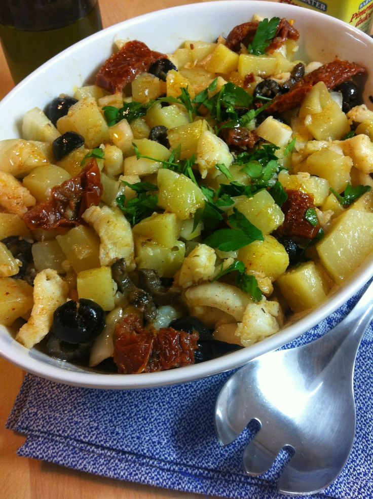 Las recetas de Martuka: Ensaladilla De Patatas Con Bacalao, Tomates Secos ...
