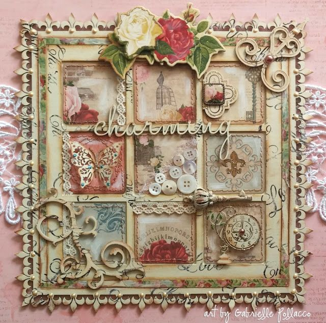 Shabby Chic Wall Art {Bo Bunny & Dusty Attic}