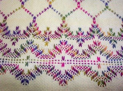 Swedish Weaving Club: Candy's Lap Afghan
