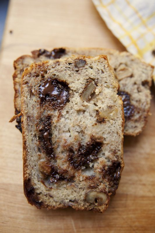 Gluten Free Chocolate Chip Walnut Banana Bread.  I've made this several times and everyone always loves it.  From Claire Thomas' Blog The Kitchy Kitchen.