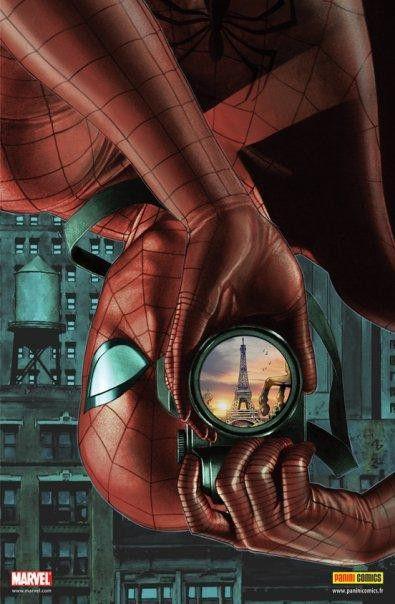 Idée - Remplacer Spiderman par Walid et dans le reflet de l'appareil photo de Samir