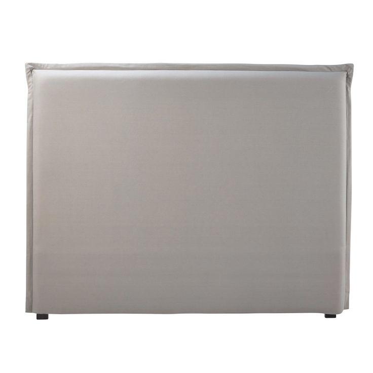 Housse de tête de lit 140 en coton gris | Maisons du Monde