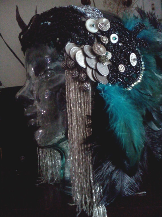 Nymphs Antiquity Ran  Tribal Fusion Head by BenneGezerittDesigns, $325.00