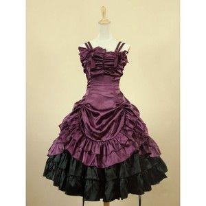 Purpurowa Krótka Sukienka Gotycka Lolita
