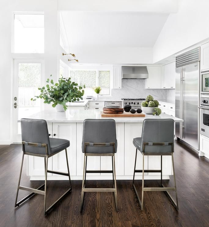 Grey Kitchen Bar Stools: 1000+ Ideas About White Leather Bar Stools On Pinterest