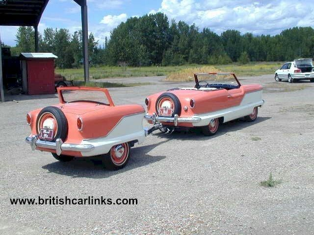1956 Nash Metropolitan With Trailer