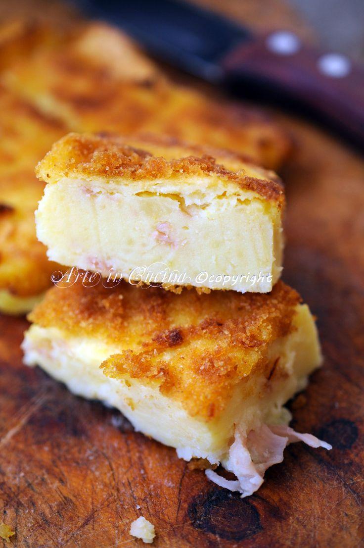 Tortino salato di patate e prosciutto saporito vickyart arte in cucina